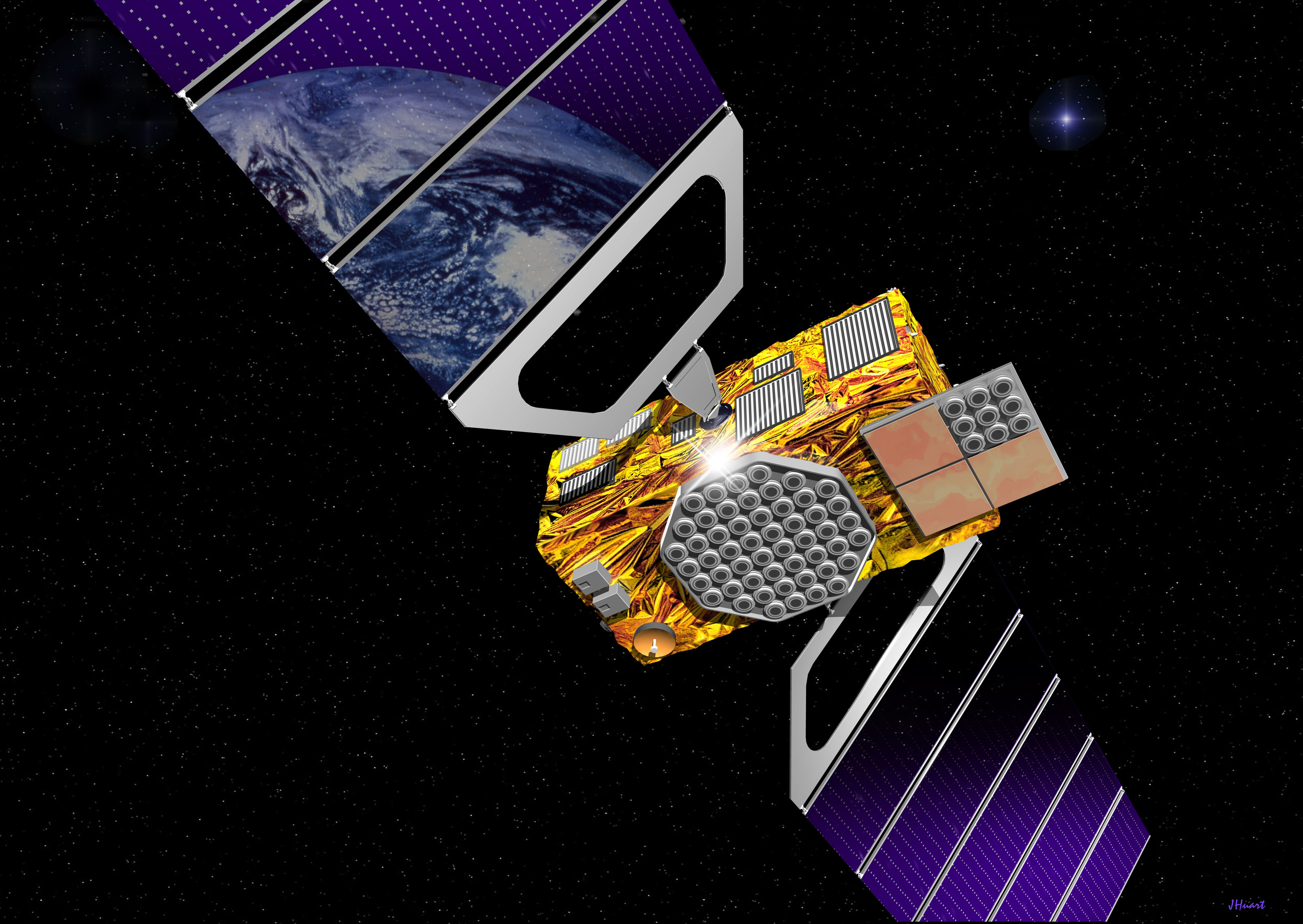 Artist impression of Galileo Satellite - Copyright European Space Agency